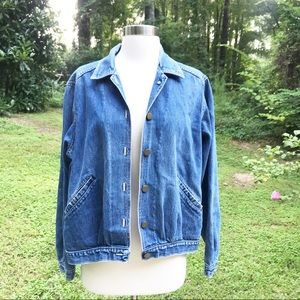 Vintage Cheryl Tiegs Bomber Style Denim Jacket 14